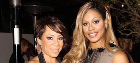 Selenis Leyva and Laverne Cox from Orange is the New Black