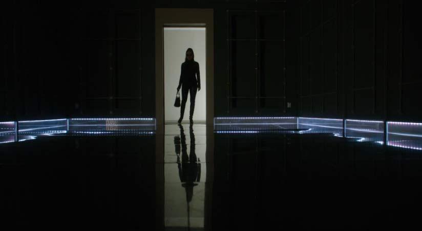 Bo enters a dark room