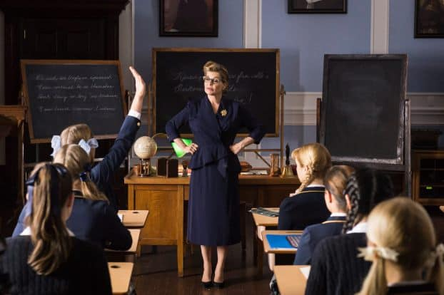 Linda Hamilton as a teacher