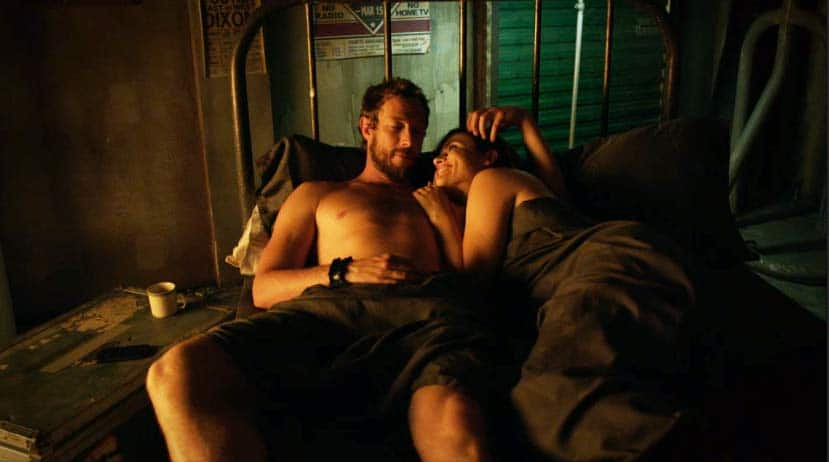Dyson and Alicia in bed