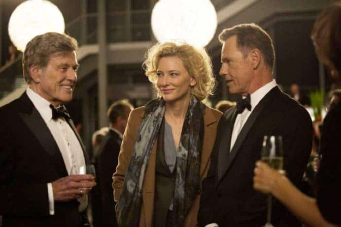 A scene from Truth with Robert Redford, Cate Blanchett and Bruce Greenwood.