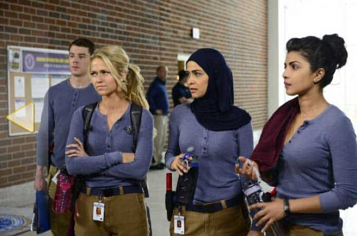 Still of Priyanka Chopra, Brian J. Smith, Johanna Braddy and Yasmine Al Massri in Quantico