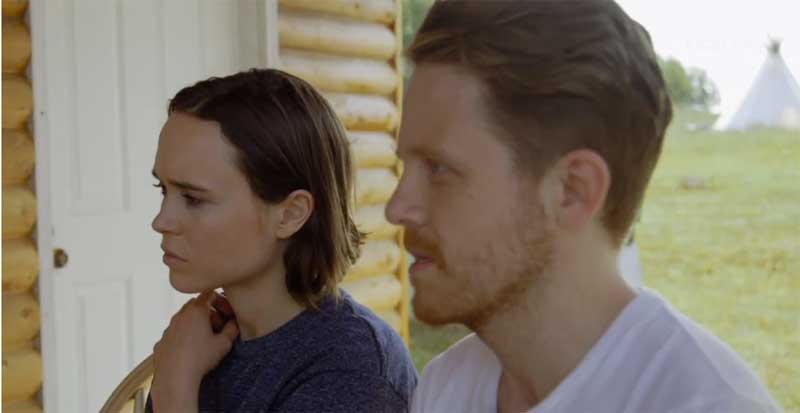 Ellen Page and Ian Daniel in Gaycation