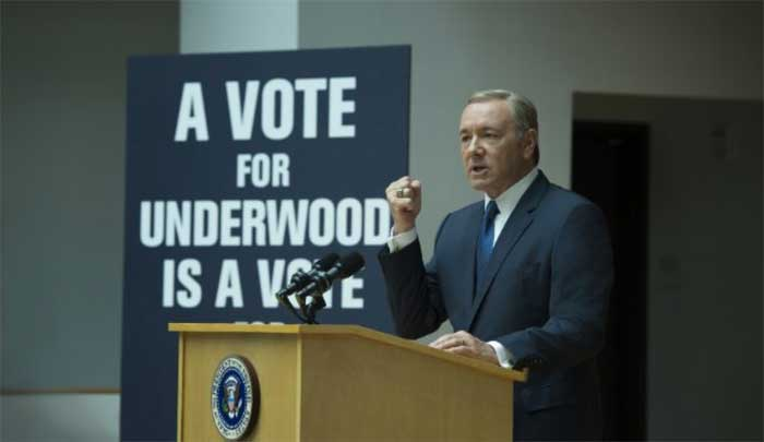 Kevin Spacey in season 4 of House of Cards