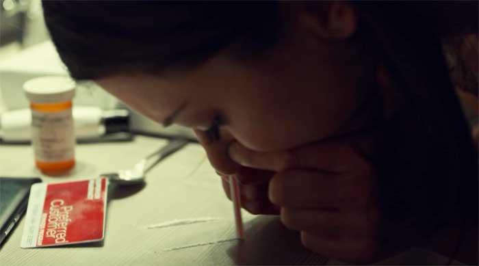 Tatiana Maslany as Beth using drugs in Orphan Black