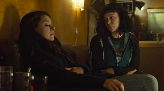 Tatiana Maslany as Beth and Mika in Orphan Black
