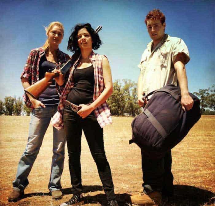 Julia Billington, Mandahla Rose, and Brett Rogers in All About E