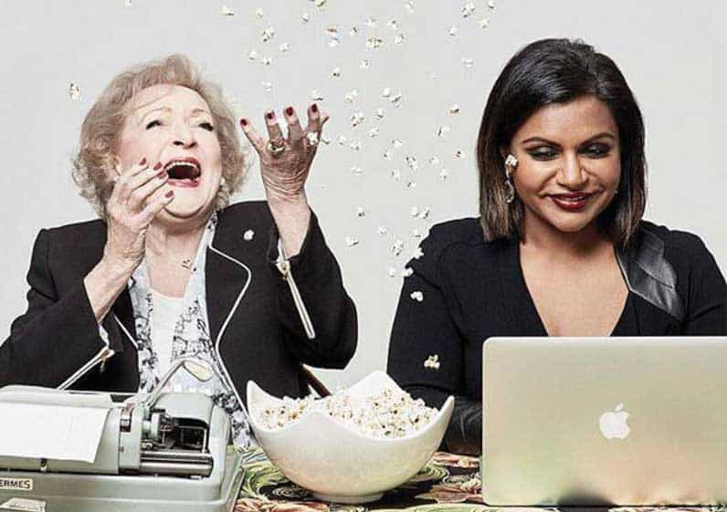 Betty White & Mindy Kaling are funny women from WhoHaHa