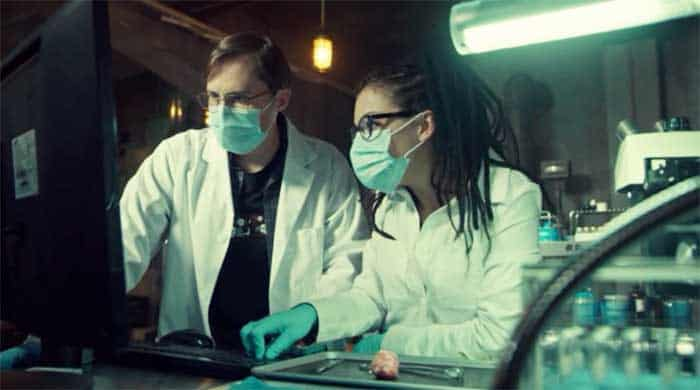 Josh Vokey and Tatiana Maslany as Cosima in Orphan Black
