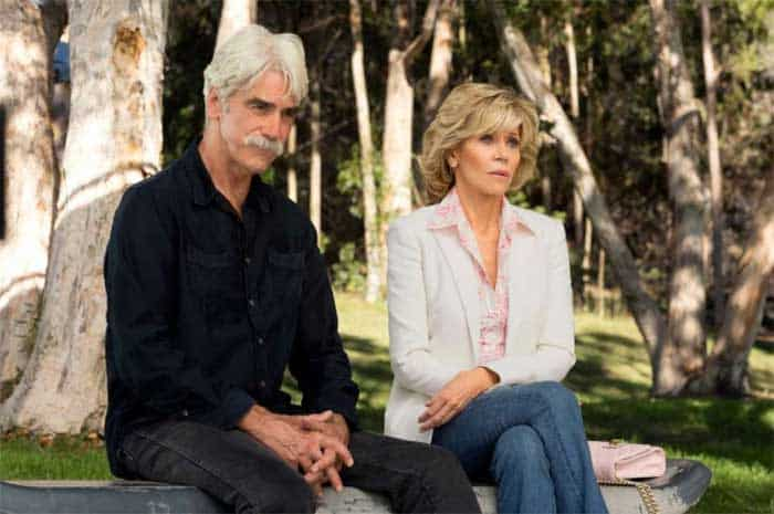 Sam Elliott and Jane Fonda in Grace and Frankie