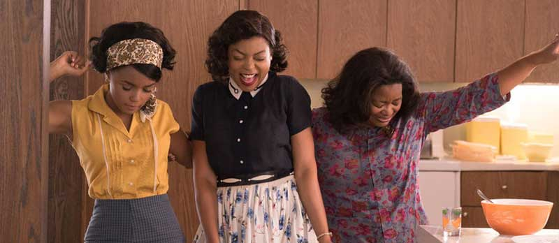 "Janelle Monáe, Taraji P. Henson, and Octavia Spencer in ""Hidden Figures"""