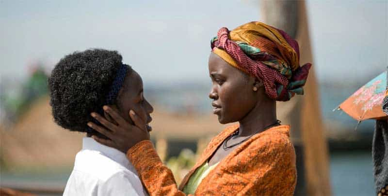 Lupita Nyong'o and Madina Nalwanga in Queen of Katwe