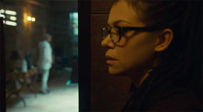 Rosemary Dunsmore and Tatiana Maslany as Cosima in Orphan Black