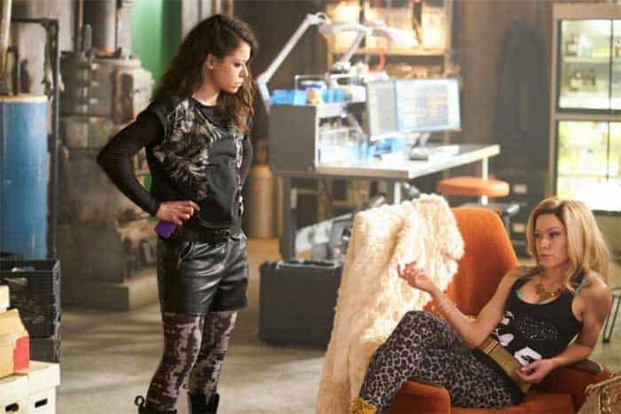 Tatiana Maslany as Sarah and Krystal in Orphan Black