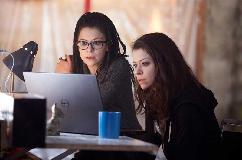 Tatiana Maslany as Cosima and Sarah in Orphan Black