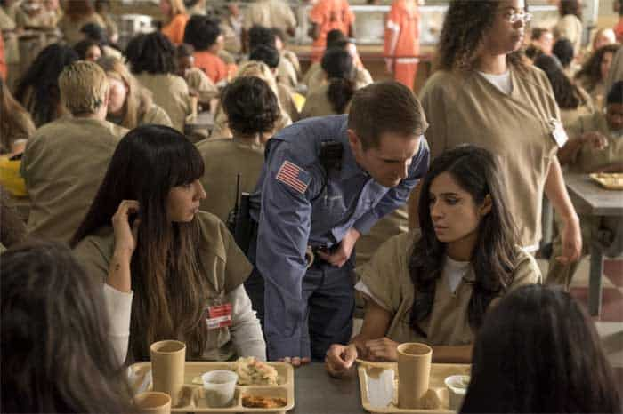 Jackie Cruz, Michael Torpey and Diane Guerrero in Orange is the New Black