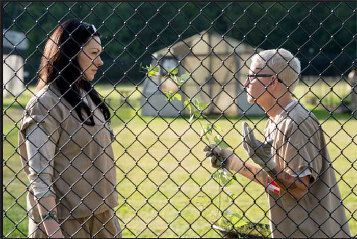 Laura Prepon and Lori Petty in Orange is the New Black