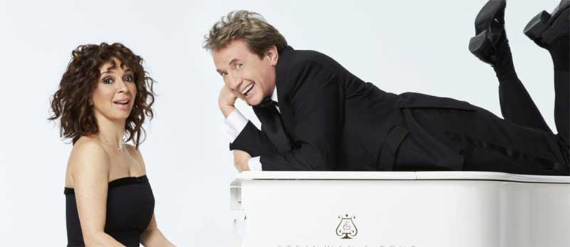 Maya Rudolph and Martin Short in Maya and Marty