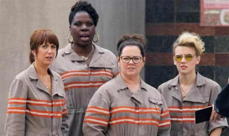 Leslie Jones, Melissa McCarthy, Kate McKinnon, and Kristen Wiig in Ghostbusters