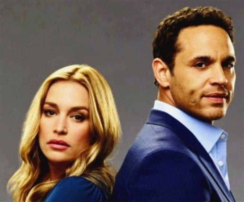 Piper Perabo and Daniel Sunjata in Notorious