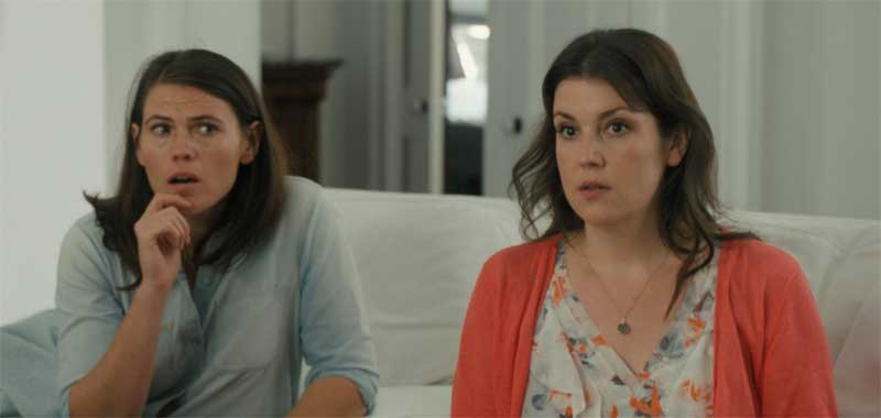 Melanie Lynskey and Clea DuVall in The Intervention