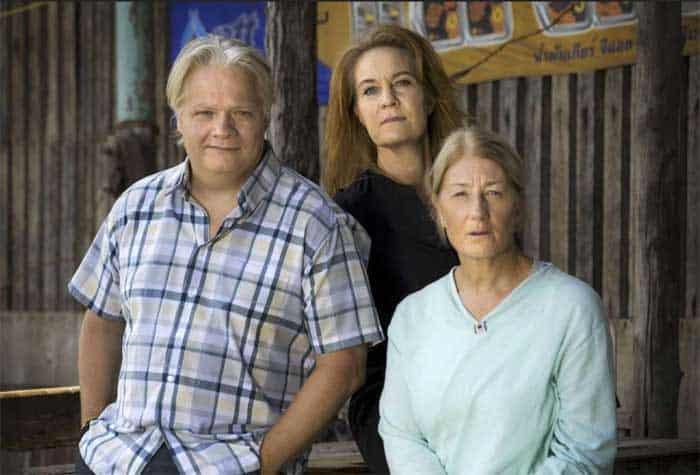 Kjell Wilhelmsen, Maria Lundqvist and Lotta Tejle in 30 Degrees in February