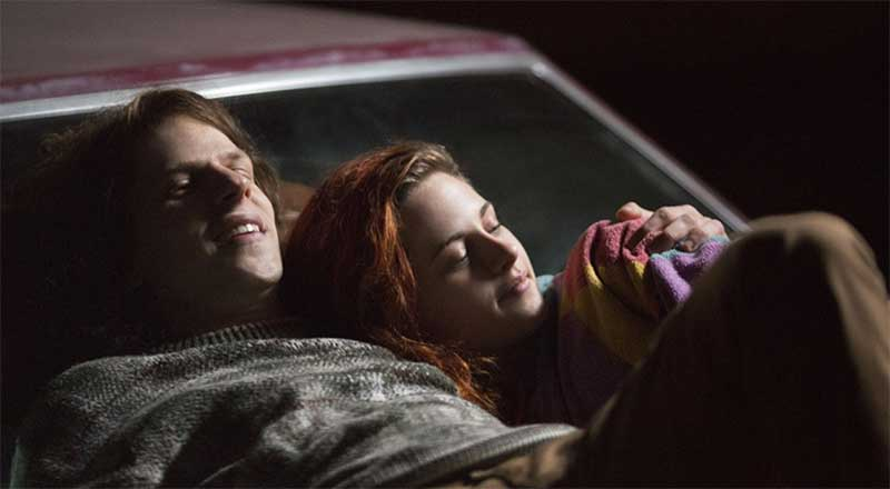Jessie Eisenberg and Kristen Stewart in American Ultra