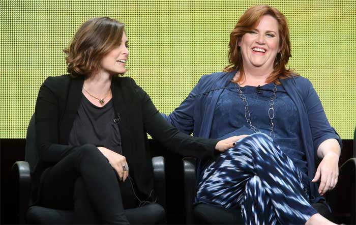 Rachel Bloom and Donna Lynne Champlin from Crazy Ex-Girlfriend