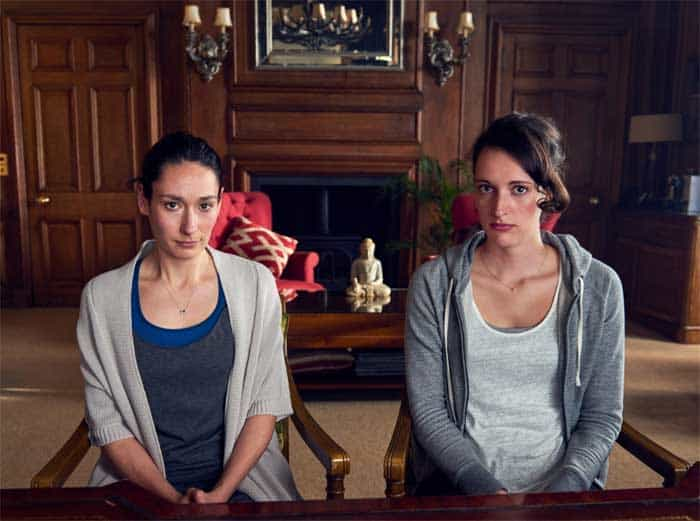 Sian Clifford and Phoebe Waller-Bridge in Fleabag.