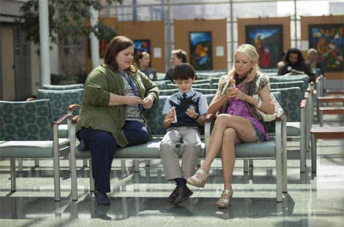 Melissa McCarthy, Naomi Watts, and Jaeden Lieberher in St. Vincent