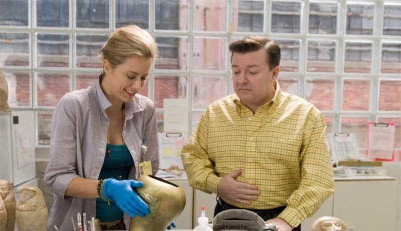 Téa Leoni and Ricky Gervais in Ghost Town