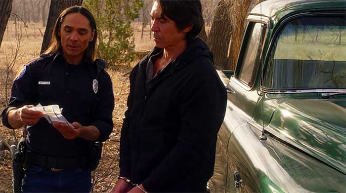 Lou Diamond Phillips and Zahn McClarnon in Longmire