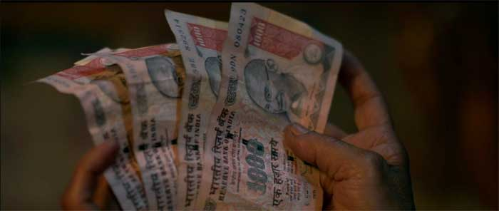 four 1000 rupee notes