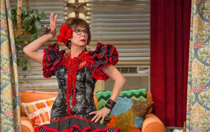Rita Moreno in a Cuban dance costume in One Day at a Time