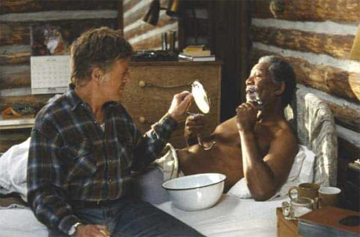 Robert Redford and Morgan Freeman in An Unfinished Life