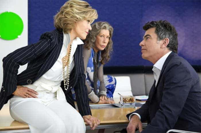 Jane Fonda, Peter Gallagher, and Lily Tomlin in Grace and Frankie