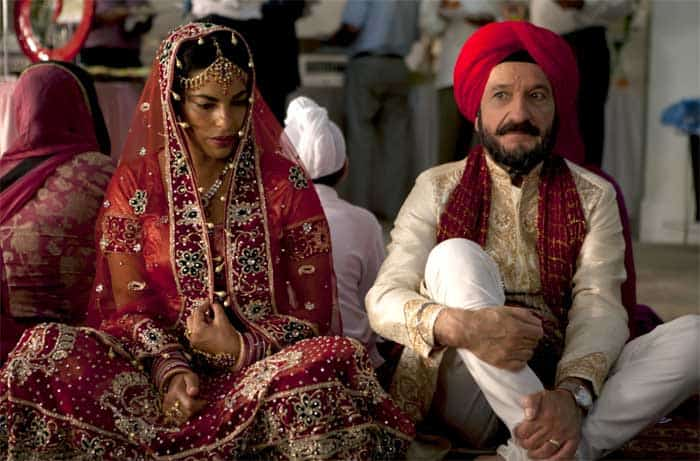 Ben Kingsley and Sarita Choudhury in Learning to Drive
