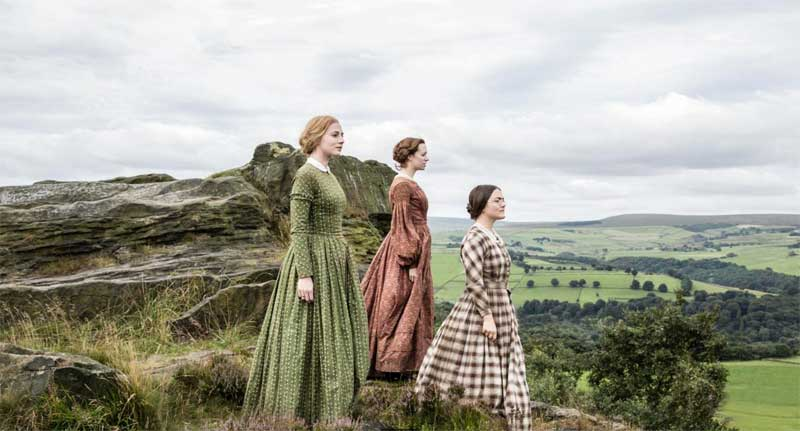 Finn Atkins, Charlie Murphy, and Chloe Pirrie in To Walk Invisible: The Bronte Sisters