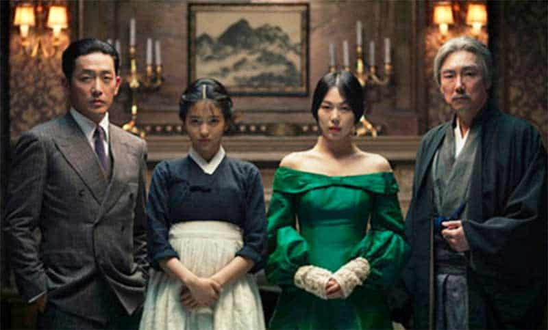 Min-hee Kim, Jung-woo Ha, Jin-woong Jo, and Tae-ri Kim in The Handmaiden