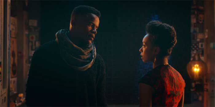 Marque Richardson and Logan Browning in Dear White People