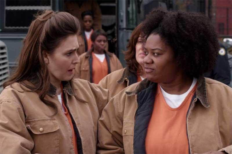 Lauren Adams and Adrienne C. Moore in Unbreakable Kimmy Schmidt