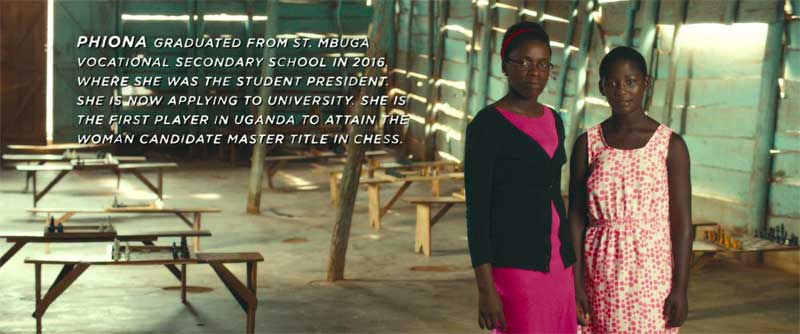 Phiona and Madina Nalwanga in Queen of Katwe