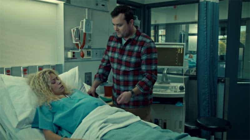 Tatiana Maslany as Helena and Kristian Bruun in Orphan Black