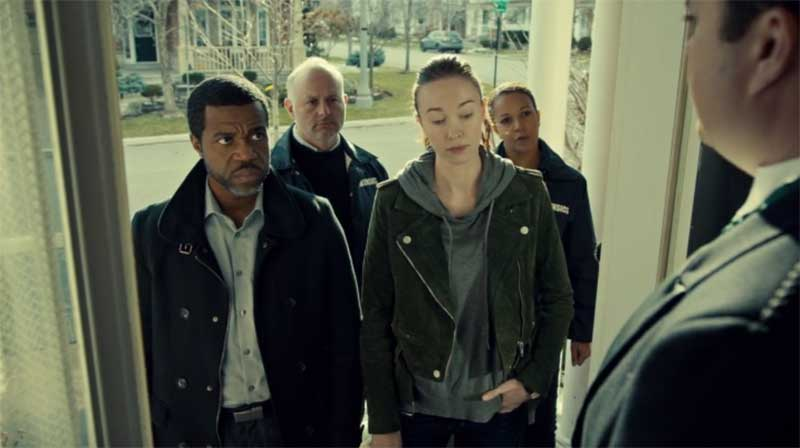Kevin Hanchard and Elyse Levesque in Orphan Black