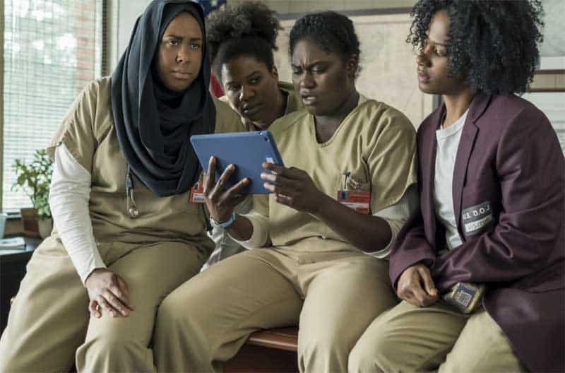Vicky Jeudy, Adrienne C. Moore, Danielle Brooks, and Amanda Stephen in Orange Is the New Black