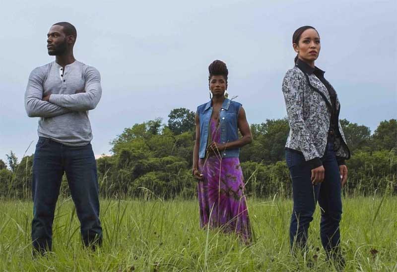 Dawn-Lyen Gardner, Rutina Wesley, and Kofi Siriboe in Queen Sugar