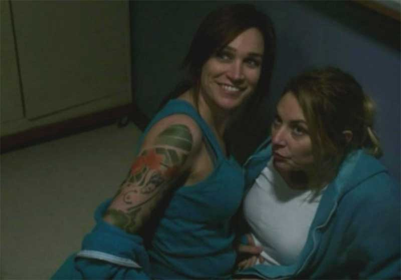 Nicole da Silva and Kate Jenkinson in Wentworth in Wentworth season 5