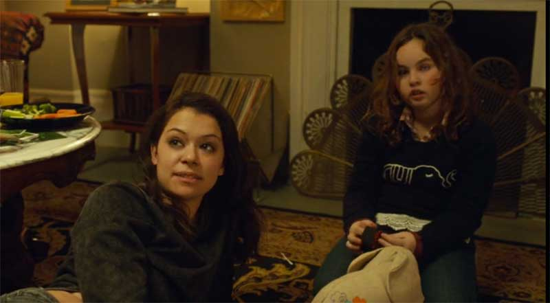 Tatiana Maslany as Sarah and Skyler Wexler in Orphan Black