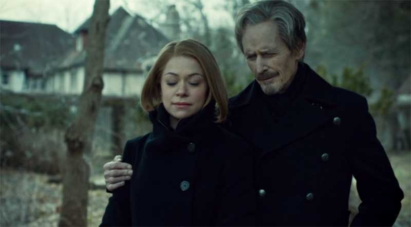 Tiatiana Maslany as Rachel and Stephen McHattie in Orphan Black