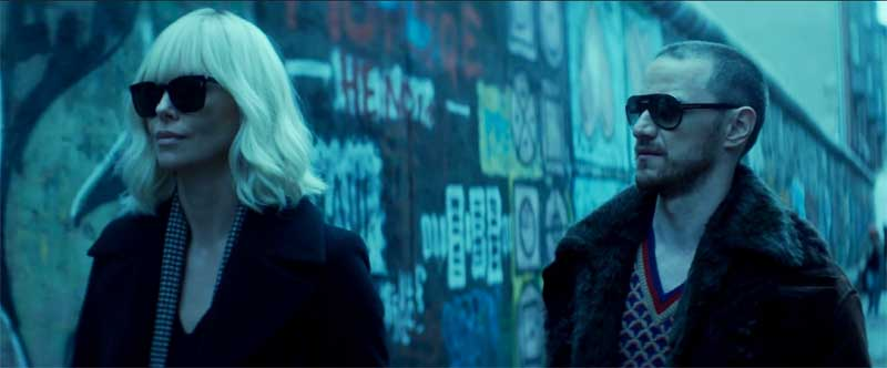 Charlize Theron and James McAvoy in Atomic Blonde